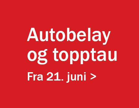Bilde for Topptau og autobelay fra 21. juni